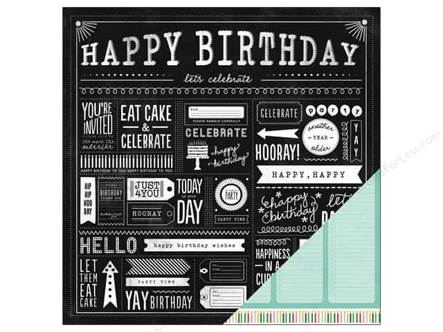 Pebbles 12 x 12 in. Paper Birthday Wishes Party Day (25 sheets)