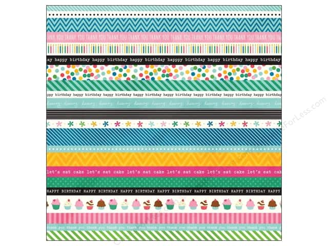 Pebbles 12 x 12 in. Paper Birthday Wishes Washi (15 sheets)