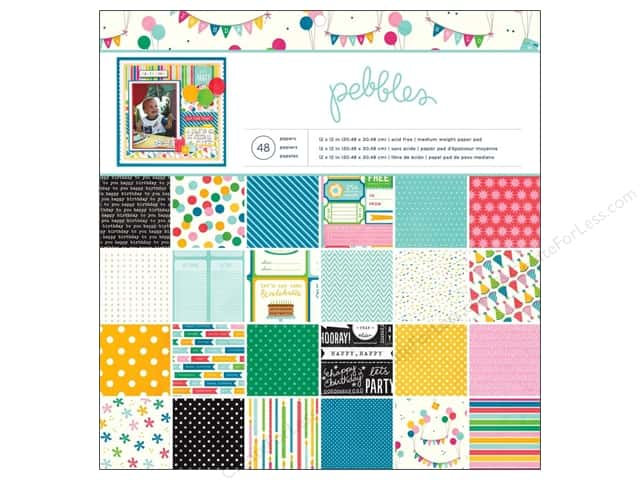 Pebbles 12 x 12 in. Paper Pad Birthday Wishes