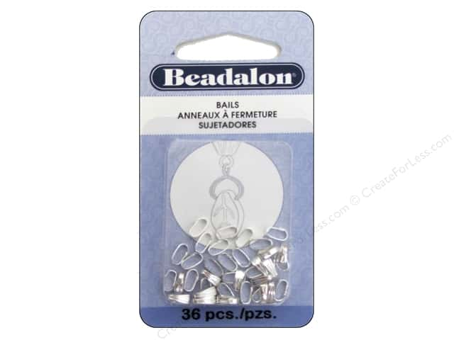 Beadalon Pendant Bail Small 6.2 mm Silver Plated 36 pc.