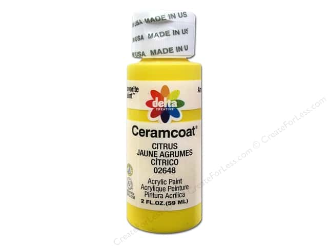 Ceramcoat Acrylic Paint by Delta 2 oz. #2648 Citrus