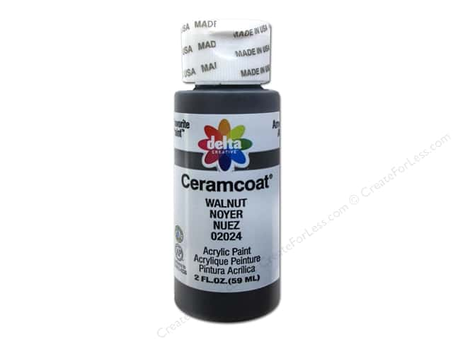 Ceramcoat Acrylic Paint by Delta 2 oz. #2024 Walnut