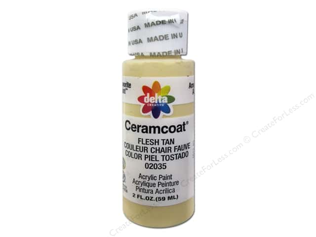 Ceramcoat Acrylic Paint by Delta 2 oz. #2035 Flesh Tan
