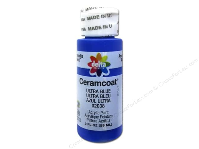 Ceramcoat Acrylic Paint by Delta 2 oz. #2038 Ultra Blue