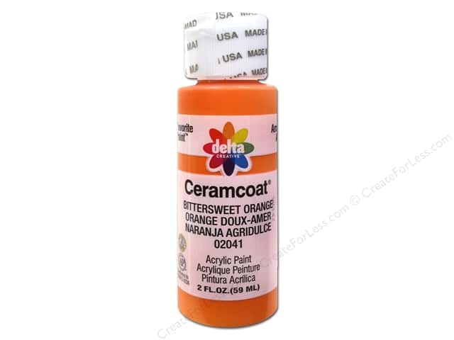 Ceramcoat Acrylic Paint by Delta 2 oz. #2041 Bittersweet Orange