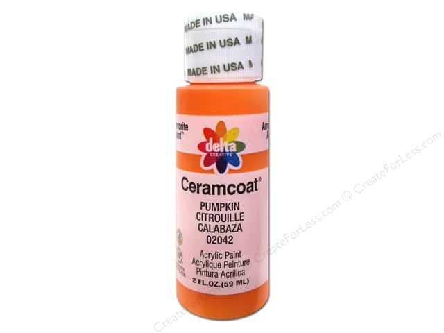Ceramcoat Acrylic Paint by Delta 2 oz. #2042 Pumpkin