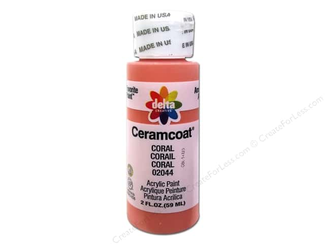 Ceramcoat Acrylic Paint by Delta 2 oz. #2044 Coral