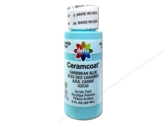Ceramcoat Acrylic Paint by Delta 2 oz. #2530 Caribbean Blue