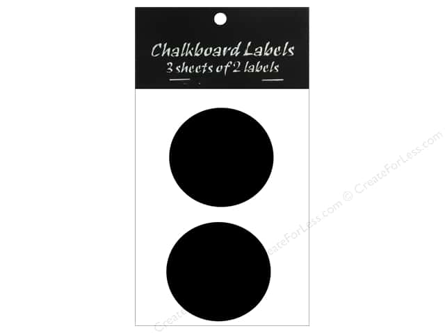 Sierra Pacific Decor Chalkboard Label Circle 2.5 in. 6 pc
