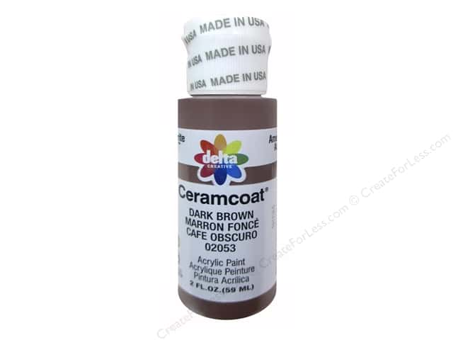Delta Ceramcoat Acrylic Paint - #2053 Dark Brown 2 oz.