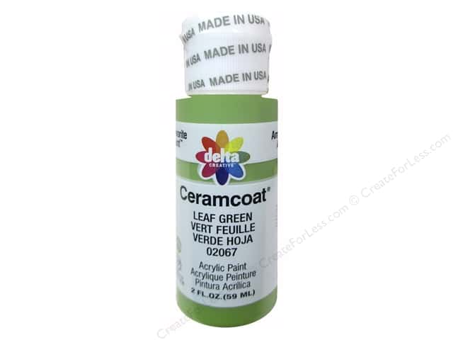 Ceramcoat Acrylic Paint by Delta 2 oz. #2067 Leaf Green