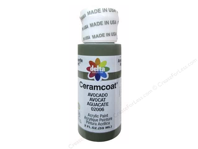 Ceramcoat Acrylic Paint by Delta 2 oz. #2006 Avocado