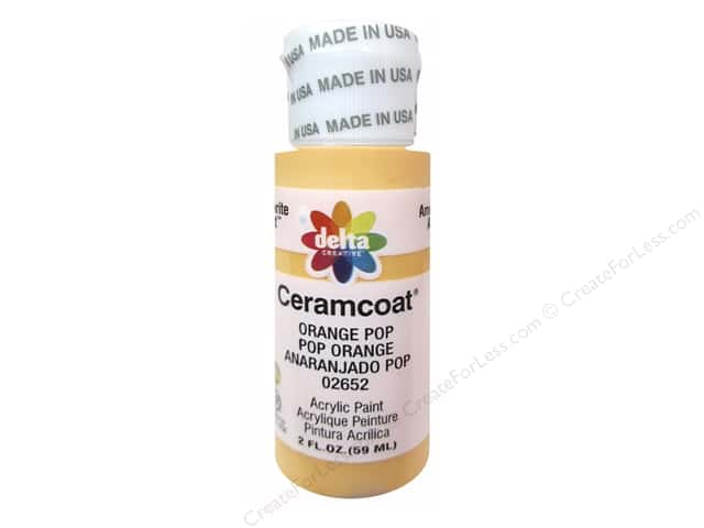 Ceramcoat Acrylic Paint by Delta 2 oz. #2652 Orange Pop