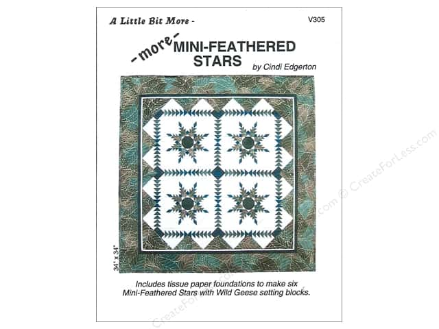 A Very Special Collection A Little Bit More More Mini-Feathered Stars Pattern