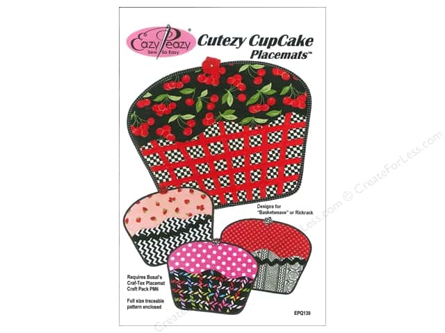 Eazy Peazy Cutezy CupCake Placemats Pattern