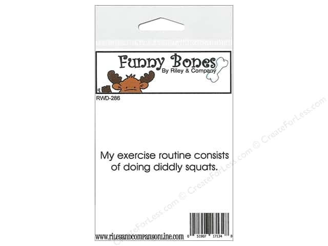 Riley & Company Cling Stamps Funny Bones Exercise Routine