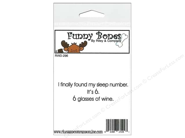 Riley & Company Cling Stamps Funny Bones Sleep Number