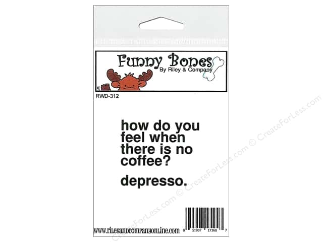 Riley & Company Cling Stamps Funny Bones Depresso