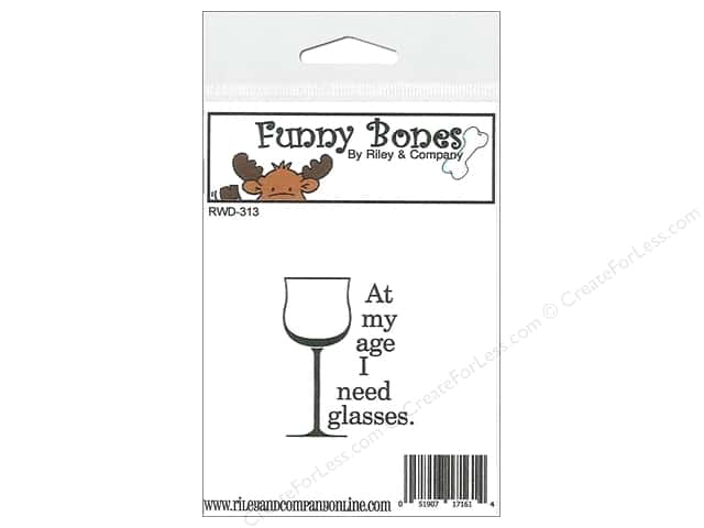 Riley & Company Cling Stamps Funny Bones Glasses At My Age