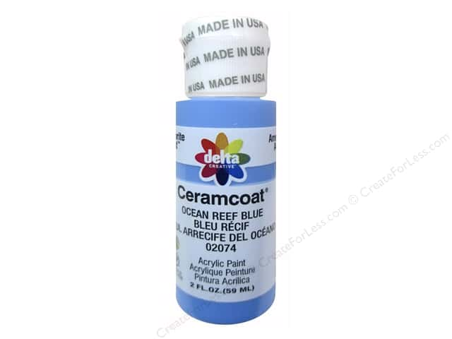 Ceramcoat Acrylic Paint by Delta 2 oz. #2074 Ocean Reef Blue