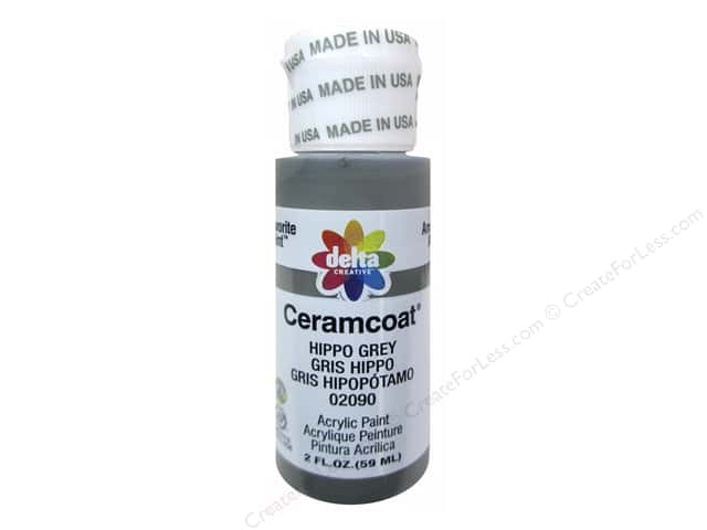 Ceramcoat Acrylic Paint by Delta 2 oz. #2090 Hippo Grey