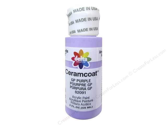 Ceramcoat Acrylic Paint by Delta 2 oz. #2091 GP Purple