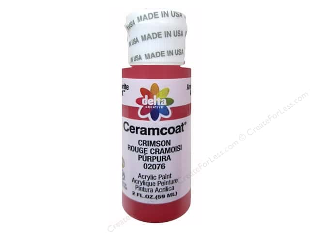 Ceramcoat Acrylic Paint by Delta 2 oz. #2076 Crimson