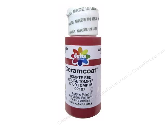 Delta Ceramcoat Acrylic Paint 2 oz. #2107 Tompte Red