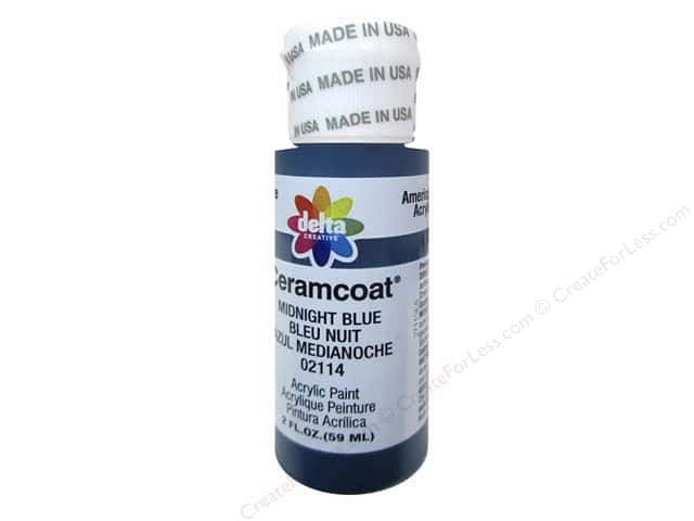 Ceramcoat Acrylic Paint by Delta 2 oz. #2114 Midnight Blue