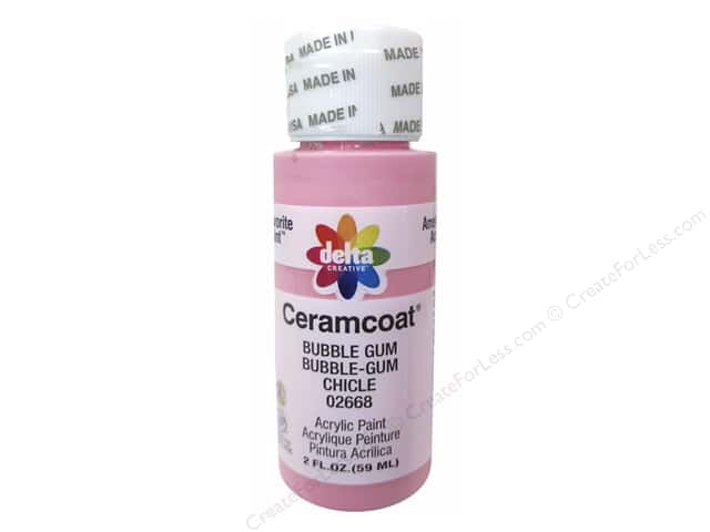 Ceramcoat Acrylic Paint by Delta 2 oz. #2668 Bubble Gum