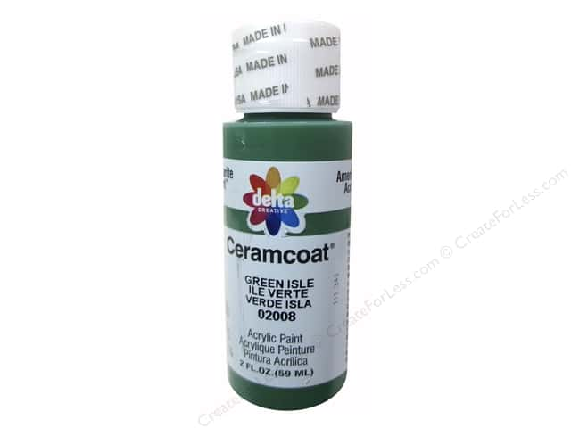 Delta Ceramcoat Acrylic Paint - #2008 Green Isle 2 oz.