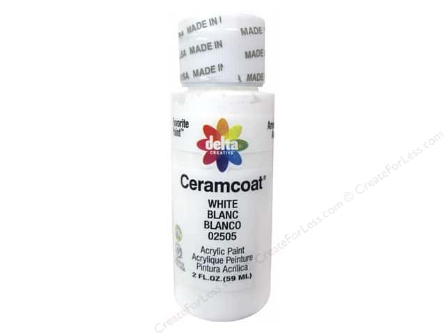Ceramcoat Acrylic Paint by Delta 2 oz. #2505 White