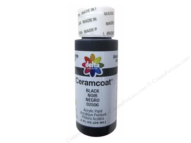 Ceramcoat Acrylic Paint by Delta 2 oz. #2506 Black