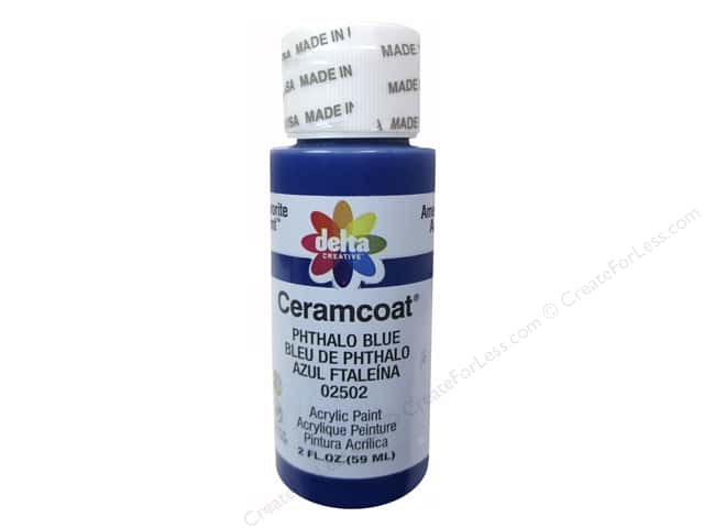 Ceramcoat Acrylic Paint by Delta 2 oz. #2502 Phthalo Blue