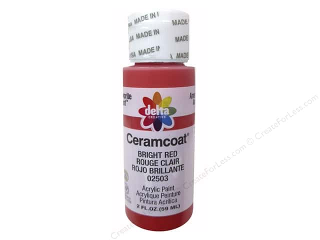 Ceramcoat Acrylic Paint by Delta 2 oz. #2503 Bright Red