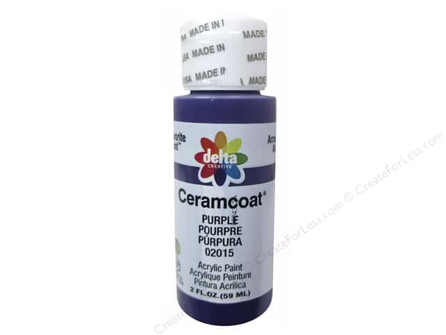 Delta Ceramcoat Acrylic Paint - #2015 Purple 2 oz.