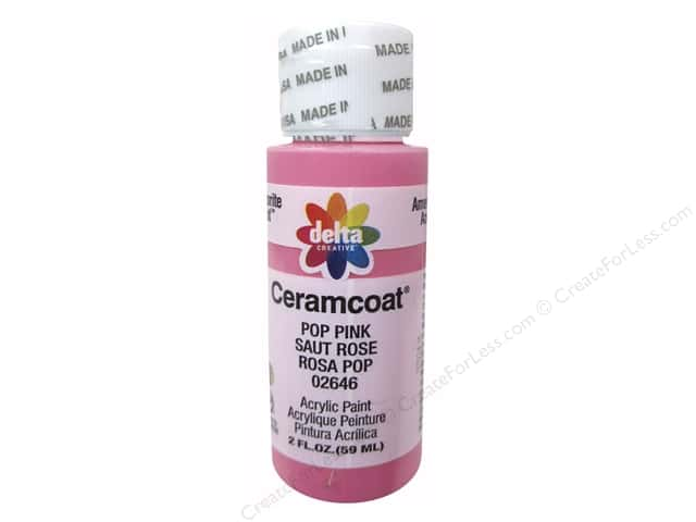Ceramcoat Acrylic Paint by Delta 2 oz. #2646 Pop Pink