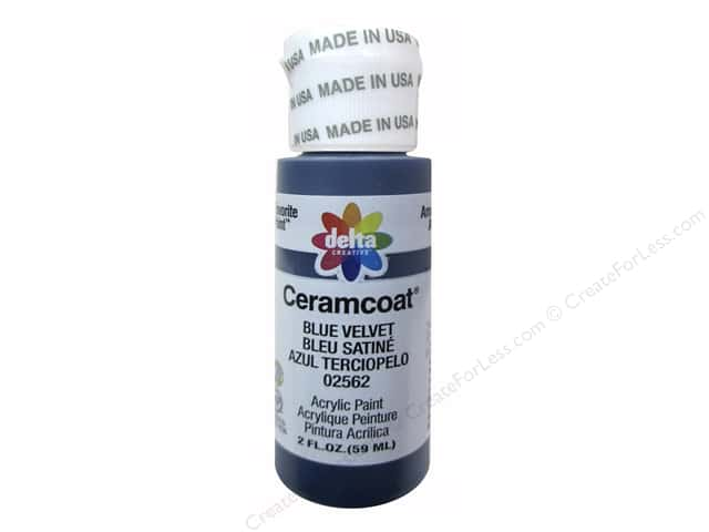 Ceramcoat Acrylic Paint by Delta 2 oz. #2562 Blue Velvet