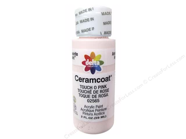 Ceramcoat Acrylic Paint by Delta 2 oz. #2565 Touch O' Pink