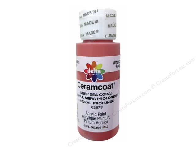 Ceramcoat Acrylic Paint by Delta 2 oz. #2678 Deep Sea Coral