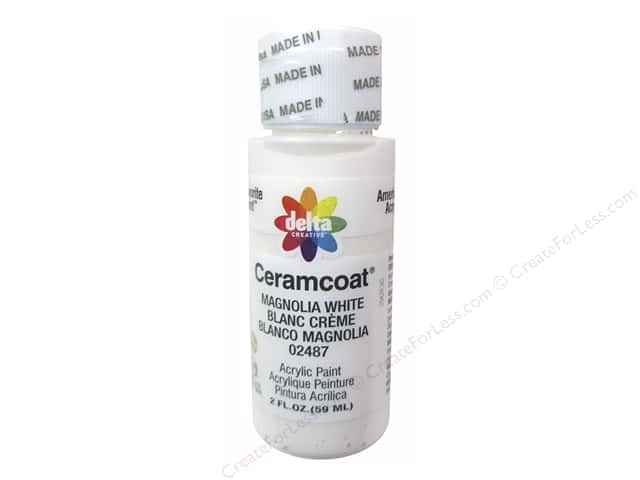 Ceramcoat Acrylic Paint by Delta 2 oz. #2487 Magnolia White