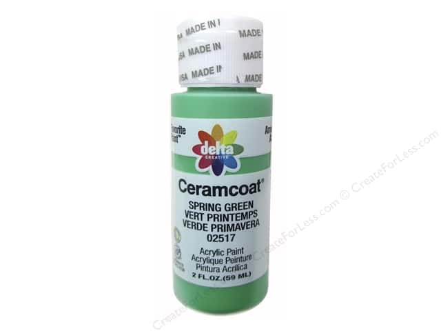 Ceramcoat Acrylic Paint by Delta 2 oz. #2517 Spring Green