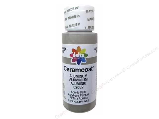 Ceramcoat Acrylic Paint by Delta 2 oz. #2682 Metallic Aluminum