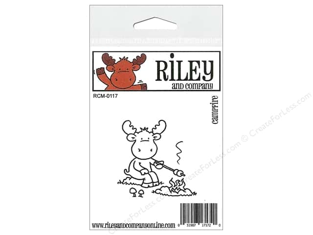 Riley & Company Cling Stamps Campfire