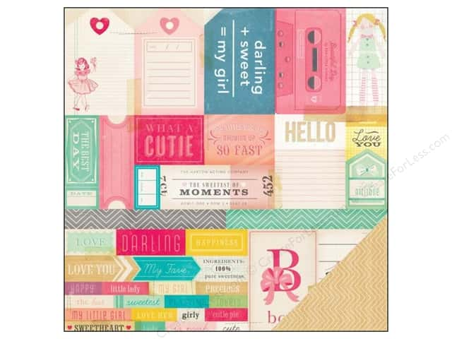 Crate Paper 12 x 12 in. Paper Oh Darling What A Doll (25 sheets)