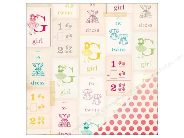 Crate Paper 12 x 12 in. Paper Oh Darling My Girl (25 sheets)