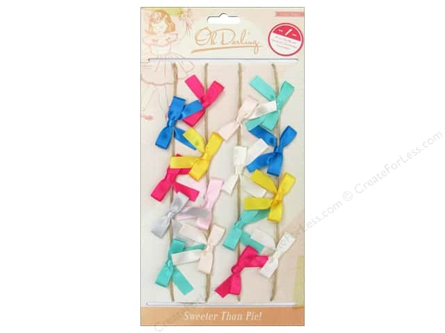 Crate Paper Embellishments Oh Darling Jute Garland Fabric Bow