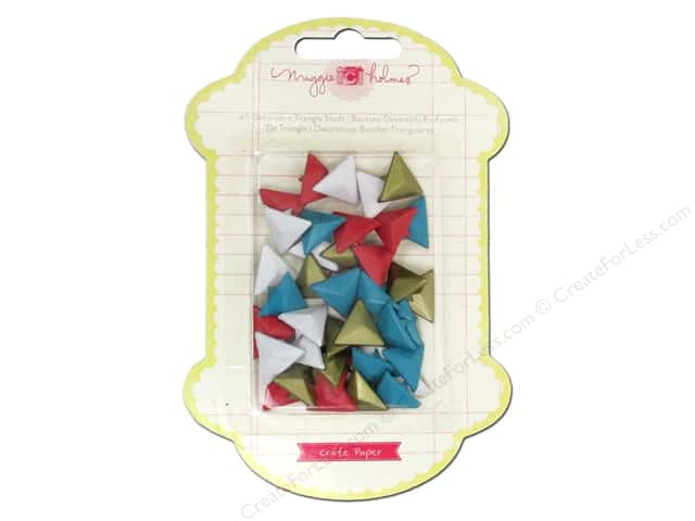 Crate Paper Embellishments Maggie Holmes Styleboard Metal Studs Triangle