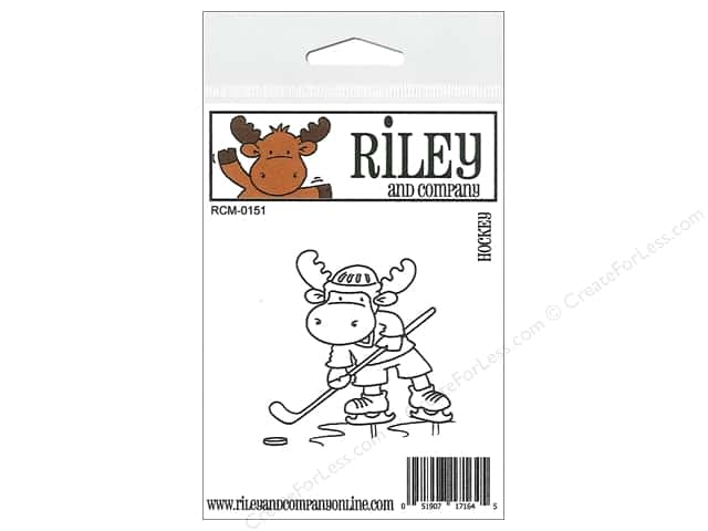Riley & Company Cling Stamps Hockey