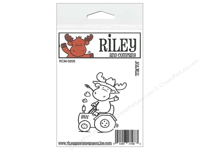 Riley & Company Cling Stamps Tractor